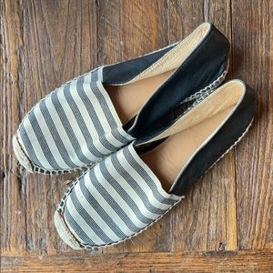 Striped Navy Blue and Cream Espadrilles 🏝 🛥